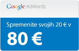 Registracija domen - Google Adwords kupon